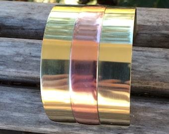 Brass and Copper Cuff Bracelet