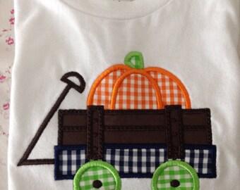 Adorable Pumpkin Wagon Tee 12mos ready to ship!!!  FREE SHIPPING!!!