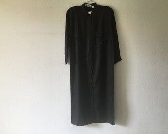 Vintage 80s Black Long Maxi Dress