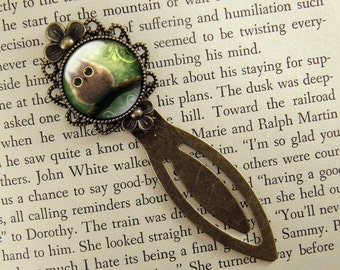 Baby Owl Bookmark, Cute Owl, Owl Lover, Owl Gift, Bronze Bookmark, Book Lover, Book Accessories, Clip Bookmark, Bookmark with Clip