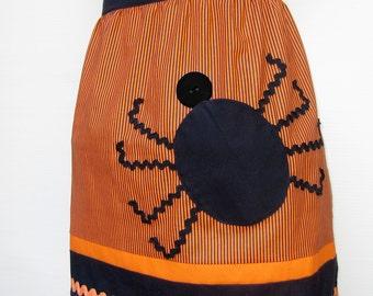 Halloween Spider Half Apron Pattern - INSTANT DOWNLOAD