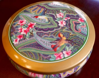 Hummingbird; Round Tin; Stunning Design Inside and Out; Approx. 2 x 5.5 in.