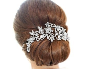 Wedding hair accessories Bridal comb Bridal rhinestone comb Bridal hairpiece Bridesmaids hair piece Bridesmaids comb Swarovski Pearls Comb