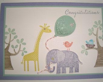 Handmade Card - Balloon fun Congrats girl 10119