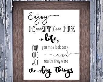 Enjoy the Simple Things Printable