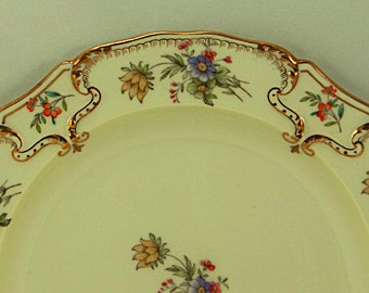 8 Cauldon Ware Antique Dinner Plates Brown Westhead Moore