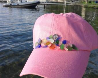 Beachcomber Hat Cap-cruisewear-lake life-sea beach glass-travel-vacation-unique gift-pink-cruisewear-salvage-outdoors-boat-kayak-hike-boho-