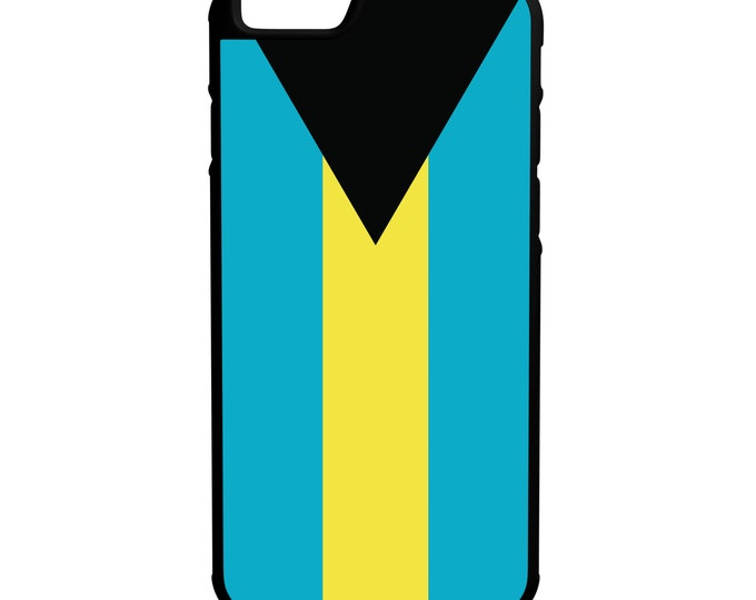 Bahamas Flag iPhone Galaxy Note LG HTC Hybrid Rubber Protective Case