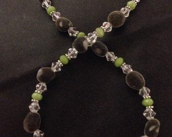 "Hawaiian Big Island Mgambo Seeds and Peridot Necklace ~ Custom Sizes 16""-26"" ~ 5 Clasp Options"