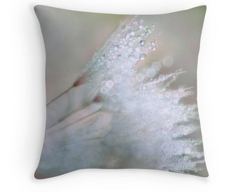 Neutral Pillows, Abstract Pillows, Neutral Decor, Dandelion Pillow, Neutral Pillow Covers, Dandelion Decor, Raindrop Cushion, Water Drops