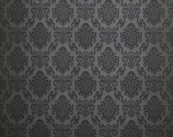 Black Damask photography backdrop-Damask Photo Wallpaper Childrens Photo Prop Newborn Background  D7712