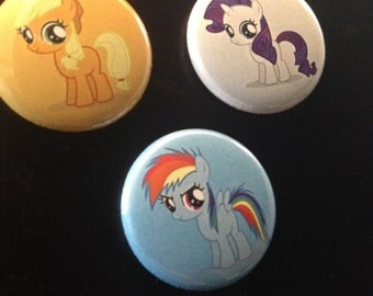 My Little Pony Friendship is Magic magnet or pin set