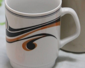 Ceramic Coffee Mug, Vintage, 1960/1970s Retro