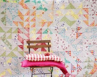 "Handmade Quilt, Handmade Bedspread 79""x79"" inch, 200x200 cm, Twin Cotton Quilt, Adult Bedroom, Quilt Modern,SALE"