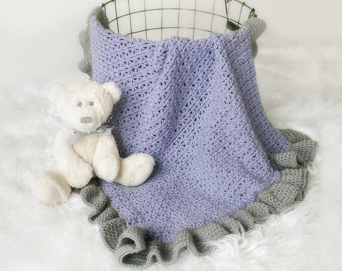 PATTERN - Crochet Baby Blanket Pattern - Victoria Baby Blanket Crochet Pattern