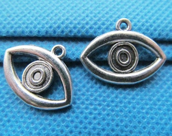 16mmx21mm Antique Silver tone Hollow Eye Oval Pendant Charm/Finding,DIY Accessory Jewellry Making