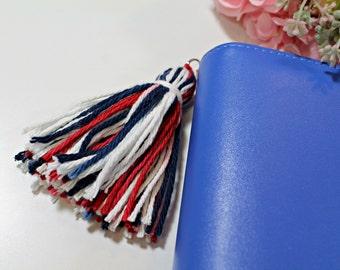Red, White, & Blue Yarn Tassel