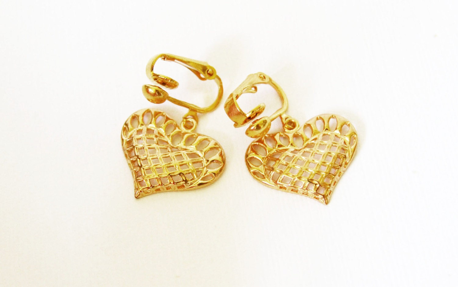 heart earrings gold - photo #27