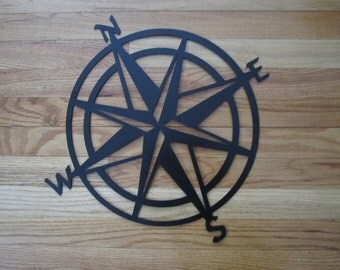 Metal Classic Nautical Compass Rose Wall Hanging