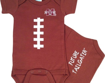 Mississippi State Bulldogs Football Future Tailgater Baby Bodysuit