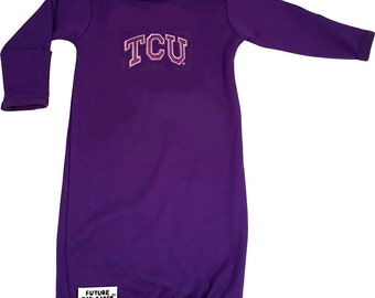 Texas Christian TCU Baby Layette Gown