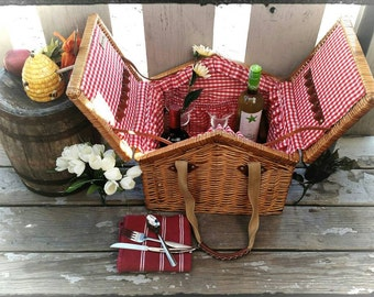 Collectible Picnic Time Inc Picnic Basket/Beachgoing Gear/Storage Basket/Park Lunch Basket/Best Gift idea/Country Decor/Scarf Storage/F1472