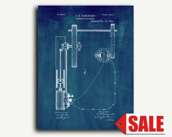 Patent Print - Electric Governor Patent Wall Art Poster