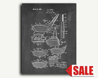 Patent Print - Golf Club Head Patent Wall Art Poster