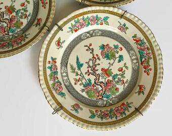 Three Adams plates, Adams Indian Tree plates, Three Adams Indian plates, English pottery, English Adams pottery, English wall decor, Adams