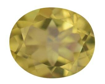 Mystic Canary Yellow Quartz Loose Gemstone Oval Cut 1A Quality 10x8mm TGW 2.10 Cts