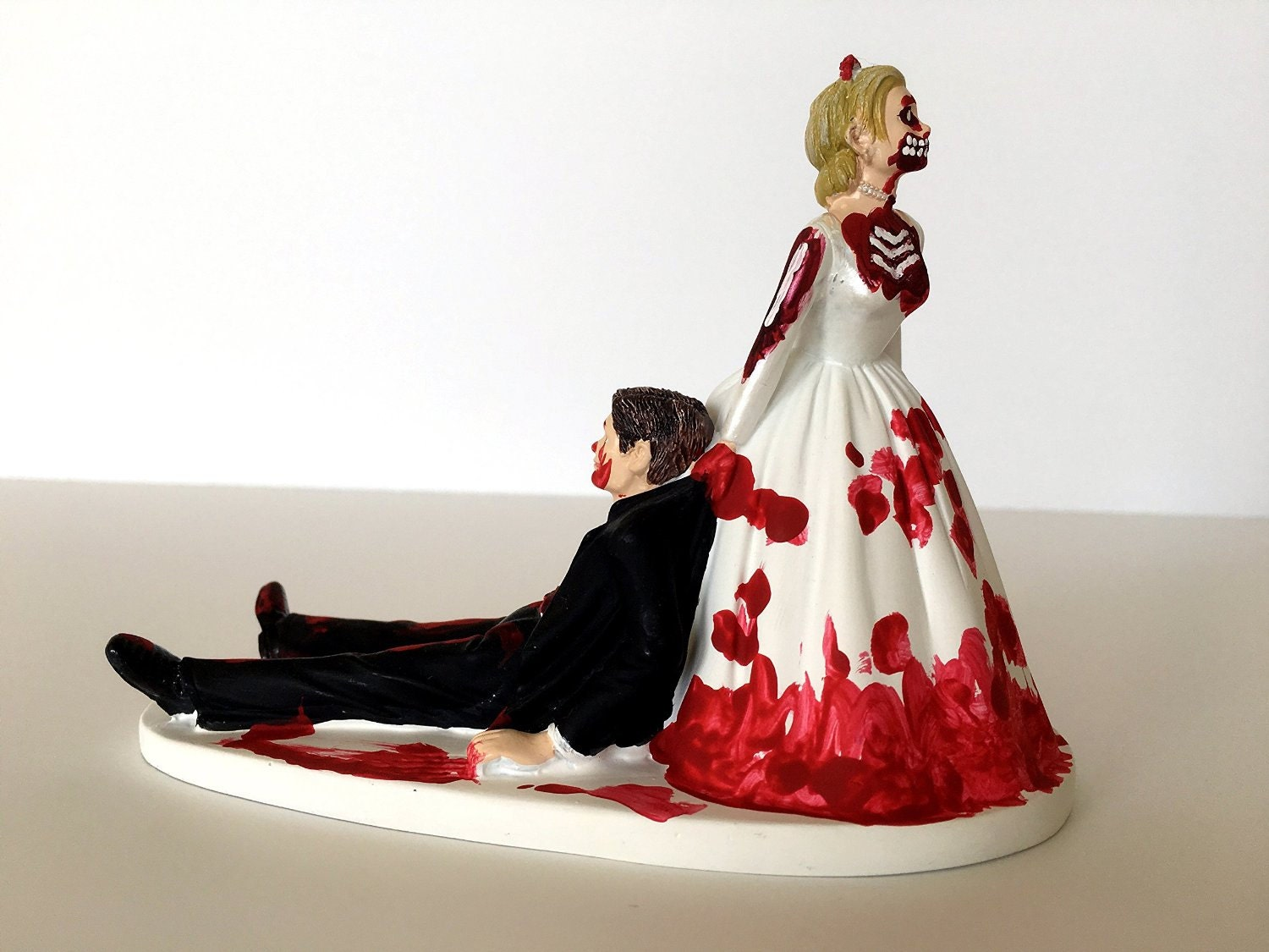 Funny Wedding Cake Topper Love Never Dies Funny Zombie Wedding