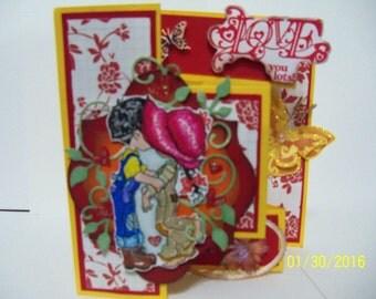Valentine shutter card
