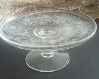 Cambridge or Fostoria Compote Pedestal Dish