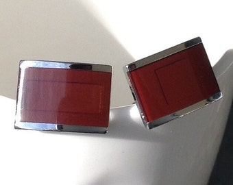 High quality silver and brown mismatched cufflinks