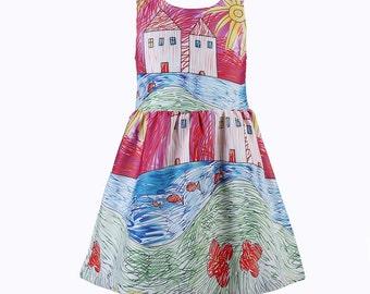 Girls' Dresses, Printed Girls' Dresses, Birthday Party Girls' Dresses, Custom Girls' Dresses, Made in U.S.A. Dresses