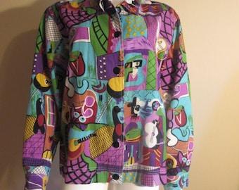 1980s Artscapes Large Shirt Blouse Top
