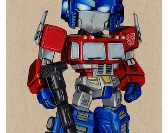 Mini Optimus Prime prints