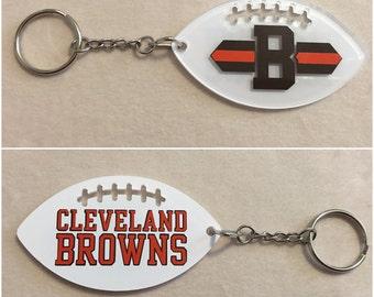 Cleveland Browns Football Acrylic Keychain