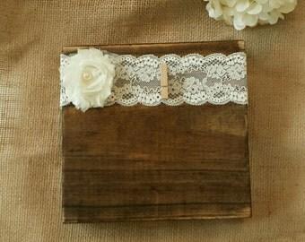 Lace wood block
