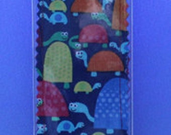 Fun Turtles Fabric Bookmark With Vinyl Cover