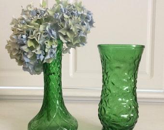 Green Vase Set