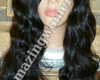 Love You More. beautiful full body wave u part wig medium size cap mixed lengths small u section natural color