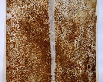 Rust print on paper