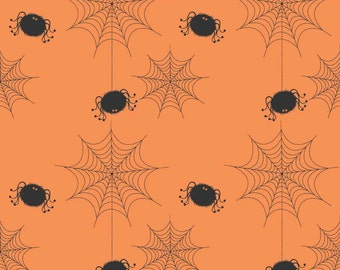 Spider Webs in Black by Riley Blake Designs