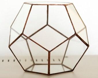 Glass Terrarium, Dodecaëder, handmade terrarium, indoor garden, Platonic solid, террарий, 水晶球,  テラリウム, Geometric glass terrarium, nice gift
