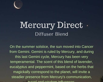 Mercury Direct Essential Oil Blend for Diffusing