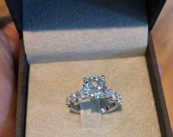 Diamond Engagement Ring, 3 Carat Diamond Ring, White Gold Ring, Engagement Gift For Her, Diamond Gold Ring, Engagement  FREE SHIPPING