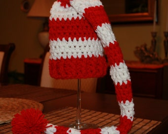crochet baby Elf hat,crochet baby christmas hat