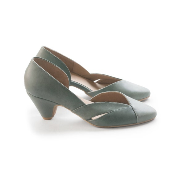 Green Pumps Sage Green Shoes Women 39 S Shoes By LieblingShoes