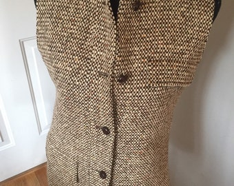 Jager vintage medium tweed vest GORGEOUS !